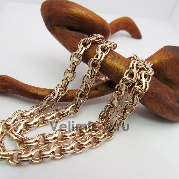 Цепь из золота плетение Ручеёк