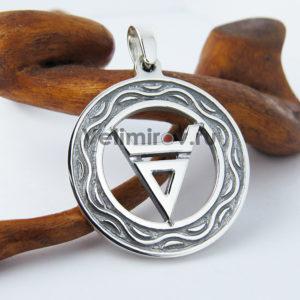 Оберег символ Велеса с орнаментом