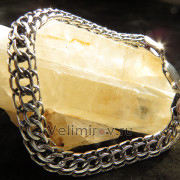 Серебряная цепь плетение Кобра