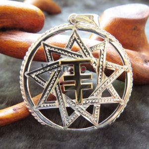 Оберег Чертог Лисы серебро с золотом