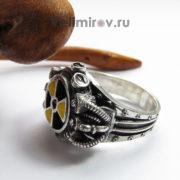 Перстень Сталкер из серебра с эмалью