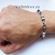 Серебряный браслет Поршень