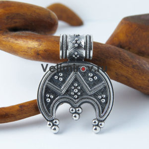 Оберег Лунница трехрогая из серебра