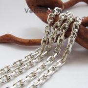 Цепь плетение Якорное из серебра